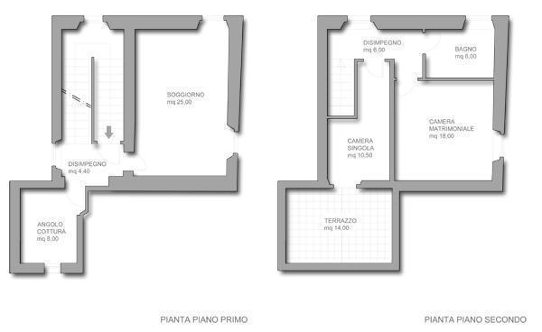 Ricavare una camera per gli ospiti dal soggiorno for Moderni piani di due camere da letto