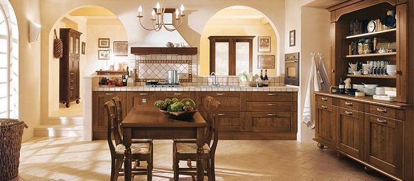 Cucine in legno naturale
