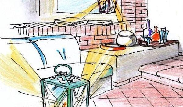 Terrazza con porticato in muratura un progetto all 39 orientale - Divano in muratura ...