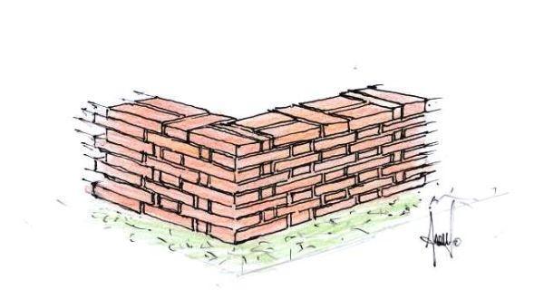 Schemi di posa dei mattoni per la costruzione di muretti for Disegni di garage di mattoni