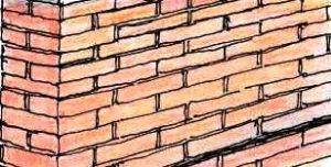 Schema di posa con mattoni alternati