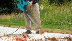Eliminare le foglie con soffiatori e aspiratori