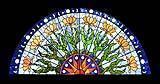 Vetri per finestra in stile Art Nouveau con decorazione floreale