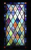 Vetro piombato multicolor a forma di rombo
