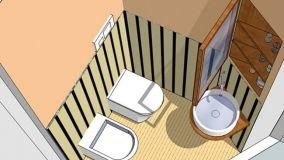 Il bagno e gli spazi minimi per l'uso