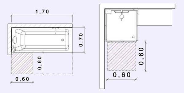 Bagno e spazi minimi - Bagno piccolo dimensioni minime ...