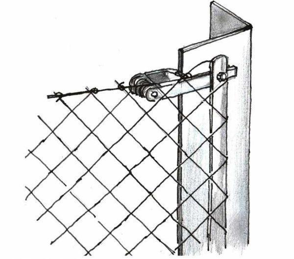 Disegno di recinzioni con paletti in angolare metallico