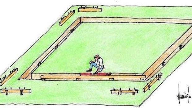 Costruzione delle fondamenta per muretti esterni