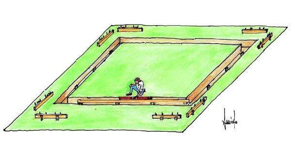Scavo trincea e livellamento della fondazione per muretto esterno