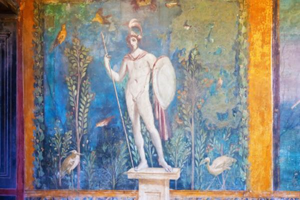 Con la tecnica dell'encausto si possono ottenere decorazioni dalla superficie simile ai dipinti murali di Pompei.