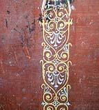 Dettaglio di decorazione murale a Pompei, probabilmente encausto