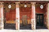 Decorazioni su muro a Pompei probabilmente encausto