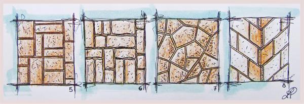 Disegno di alcune geometrie di posa