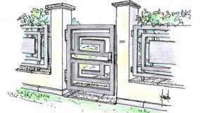 Progetto di cancello in metallo per ingresso pedonale