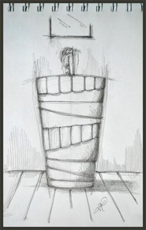 Disegno di lavabo  free standing
