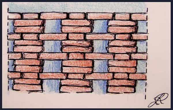 Disegno di muro traforato