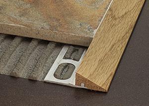 Profili per accostare pavimenti diversi a differenti livelli by Profilpas
