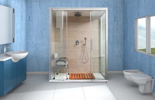 Doccia amerika un nuovo modo di trasformare la vasca in for Camminare attraverso la doccia alla vasca