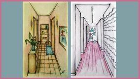 Pannelli dall'effetto tridimensionale per valorizzare l'estetica di un corridoio