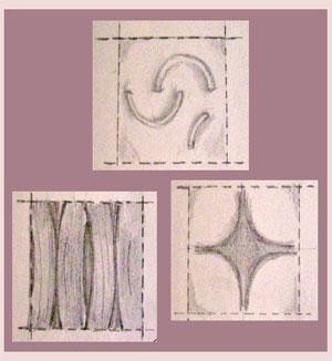 Schizzo di esempi di pannelli a effetto 3D