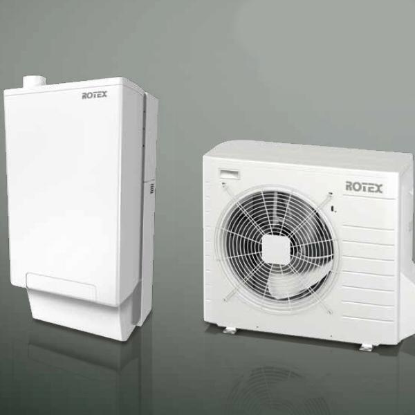 Sistema ibrido caldaia a condensazione con pompa di calore - HPU Hybrid System by Rotex