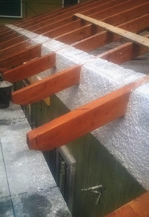 Sostituire la struttura del tetto - Cordolo di appoggio dei travetti www.lacasapensata.it