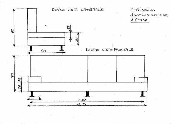 Esempio di schema per ordinare divano su misura su Lombarditrapunte.it