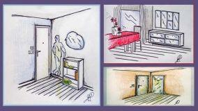 Ampliare il soggiorno la giusta installazione di uno specchio