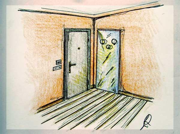 Disegno di specchiera porta cappotti