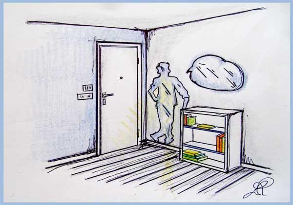 Lo specchio in soggiorno per ampliare lo spazio