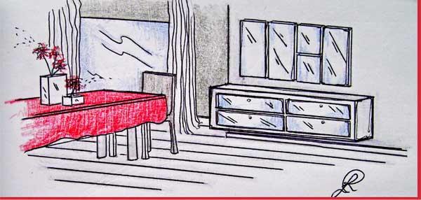 Lo specchio in soggiorno per ampliare lo spazio for Disegno del piano di soggiorno