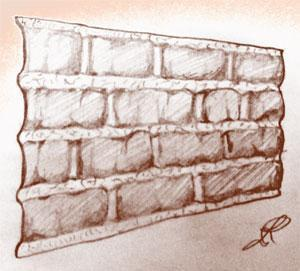 Disegno di pannello in finta pietra