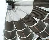 Ombrello fotovoltaico dell'azienda Umbrosa ha i pannelli fotovoltaici integrati nella copertura.