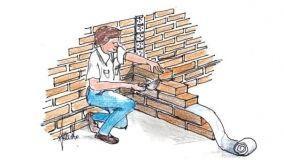 Muretti perpendicolari: tecniche di costruzione