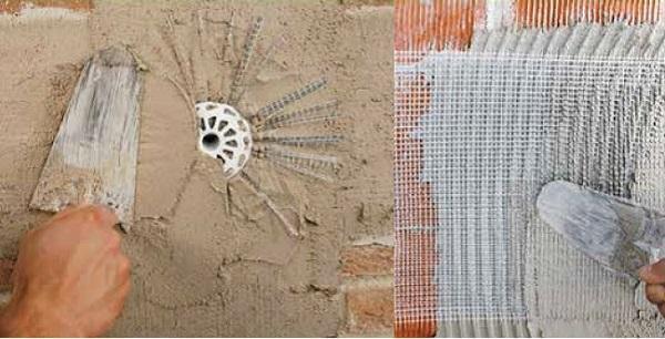 Rinforzo strutturale con rete in acciao, fiocco di fissaggio di Kerakoll