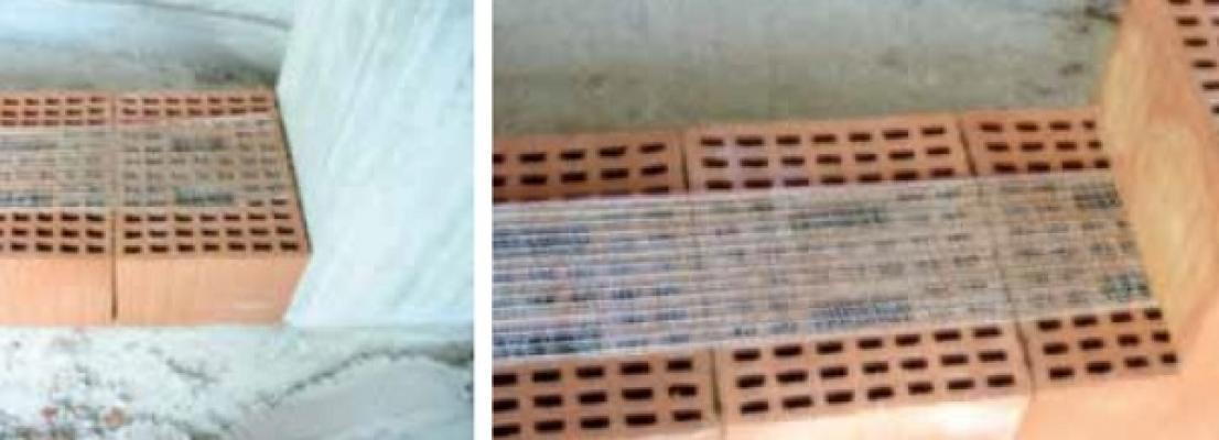 Rinforzo tamponature incostruzione con reti in acciaio di Biemme srl - Biagiotti