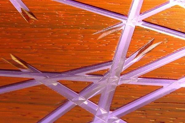 Pannello Vibrato di Lamellux con decorazione Mikado