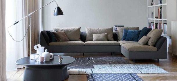 Arredare la zona giorno: divano Sinua di Bonaldo