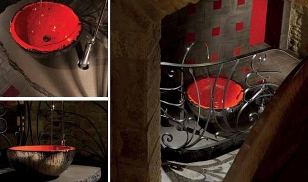 Sanitari novità a Cersaie: Domiziani, lavamani in terracotta 1000°C
