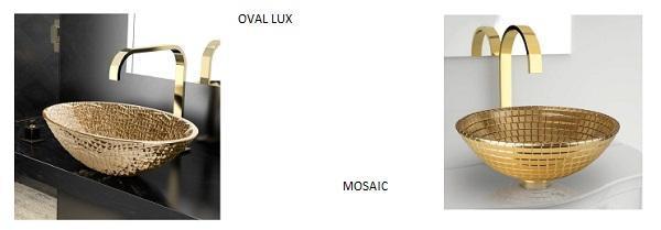 Sanitari novità a Cersaie: Glass Design Oval Lux e Mosaic