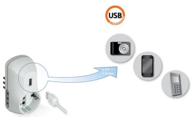 Presa con porta USB  ADVANCED di BTicino