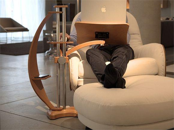 Supporto pc Lounge-wood di Lounge-Tek