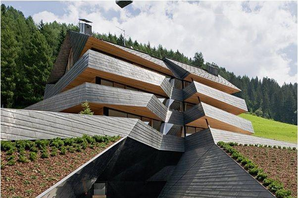 Dolomitenblick progetto italiano vincitore nel nel concorso Copper Architecture 2013