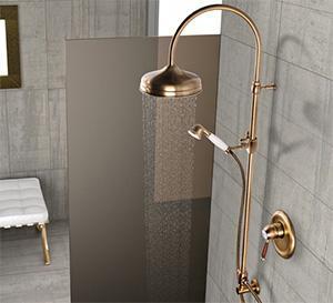 Sistema per docce della collezione Class, proposto dall'Azienda Ribinetterie Toscane Ponsi.