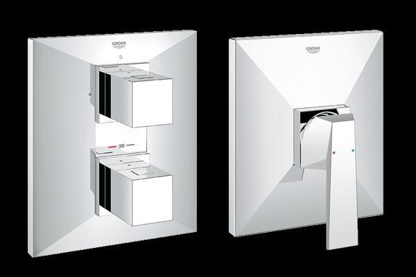 Sistemi di comando per miscelatori da doccia dell'Azienda Grohe.