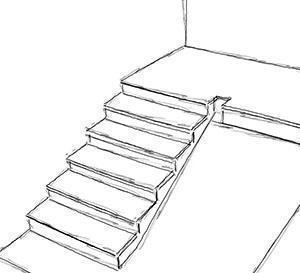 Schizzo di una rampa tipo da completare