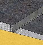 Particolare ancoraggio mensola acciaio