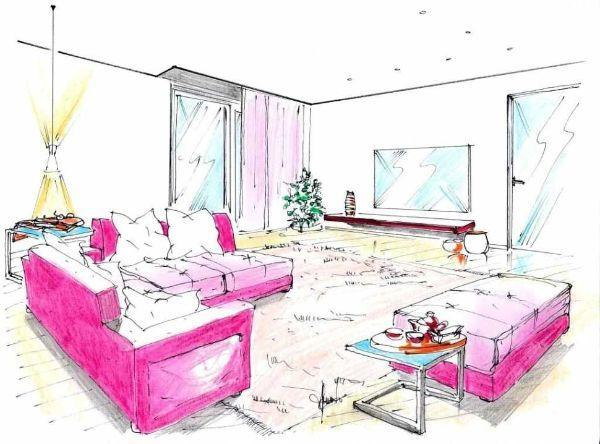 Disegno di salotto angolare trasformabile con pouf