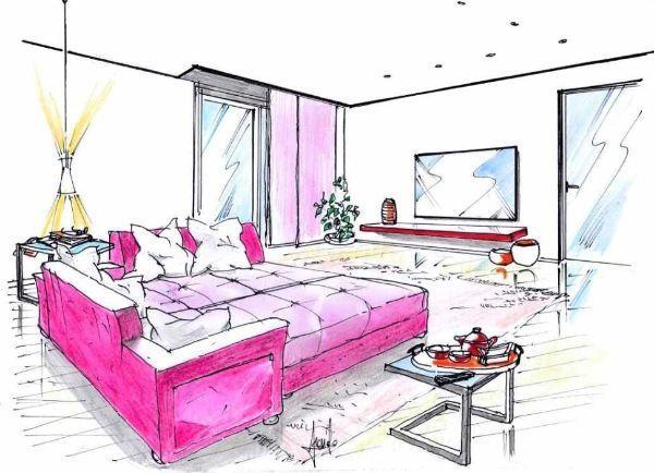 Trasformazione del divano in letto a isola, al centro del living
