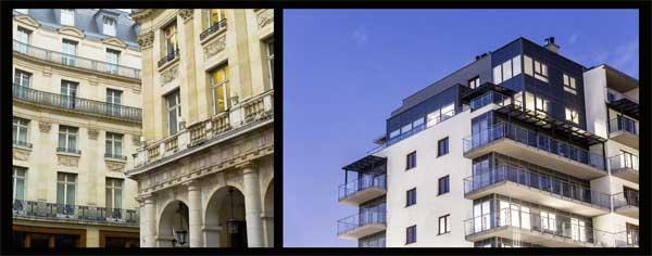 Immagini Thinkstock rappresentative di un edificio dall'impatto classico ed uno contemporaneo